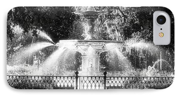 Forsyth Park Fountain Phone Case by John Rizzuto