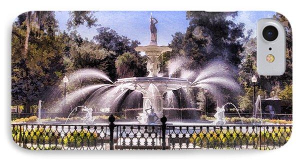 Forsyth Park Fountain IPhone Case by Linda Blair