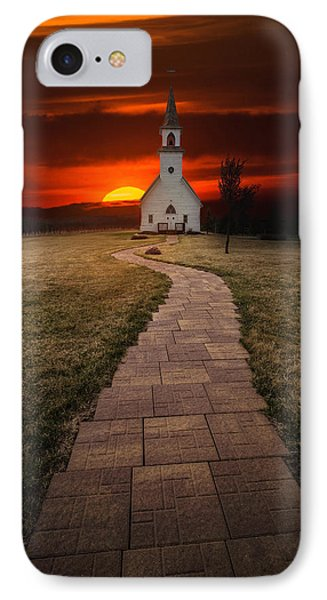 Fort Belmont Sunset 2014 IPhone Case by Aaron J Groen