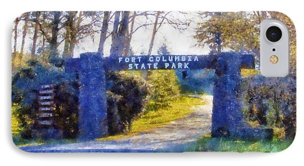 IPhone Case featuring the digital art Fort Columbia Entrance by Kaylee Mason