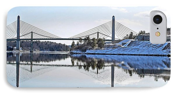 Fort Knox And Bridges Reflection In Winter IPhone Case by Barbara West