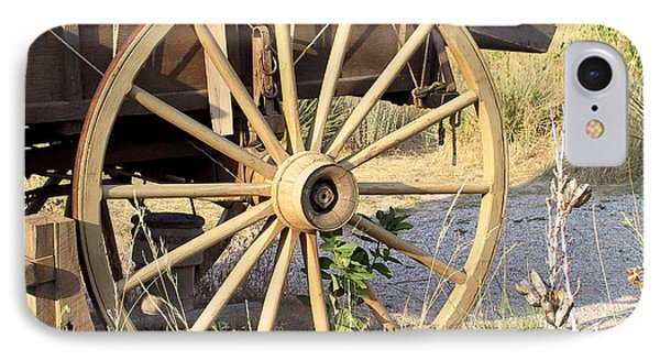 Fort Laramie Wy - Moving West On Wagon Wheels IPhone Case by Christine Till