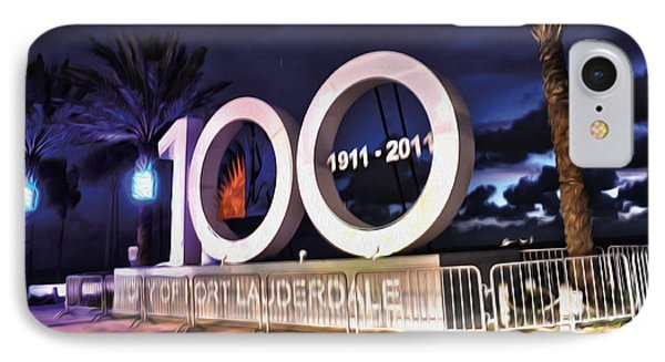 Fort Lauderdale At 100 Years IPhone Case by Timothy Lowry