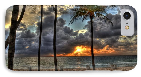 Fort Lauderdale Beach Florida - Sunrise IPhone Case by Timothy Lowry