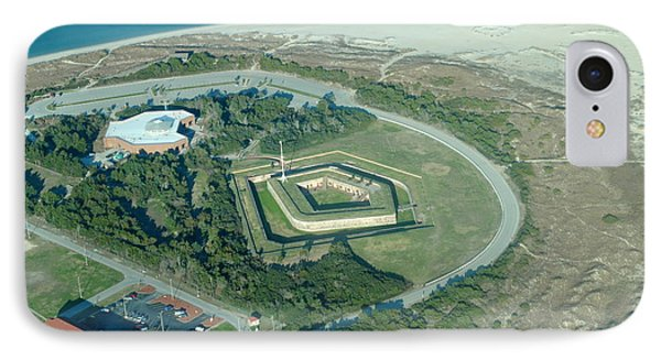 Fort Macon From The Air IPhone Case by Dan Williams