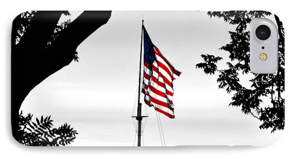 Fort Mchenry Flag Color Splash IPhone Case by Bill Swartwout