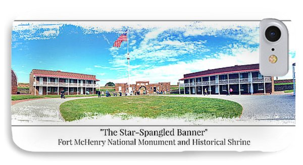 Fort Mchenry Panorama IPhone Case by Stephen Stookey