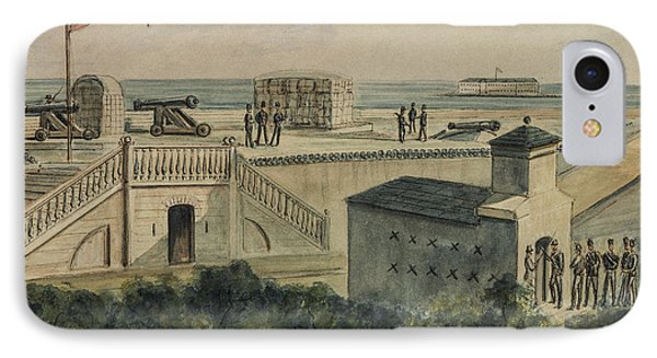 Fort Moultrie Circa 1861 Phone Case by Aged Pixel