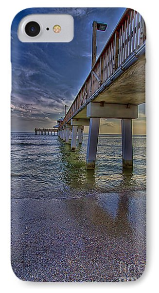 Fort Myers Beach Pier IPhone Case by Anne Rodkin
