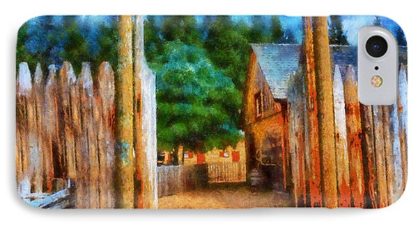 IPhone Case featuring the digital art Fort Nisqually Entrance by Kaylee Mason