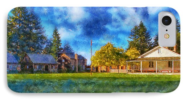 IPhone Case featuring the digital art Fort Nisqually by Kaylee Mason