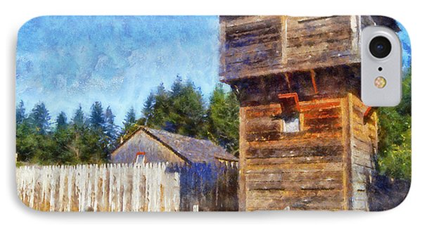 IPhone Case featuring the digital art Fort Nisqually Tower by Kaylee Mason