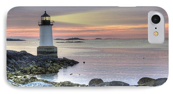 Fort Pickering Lighthouse At Sunrise IPhone Case by Juli Scalzi
