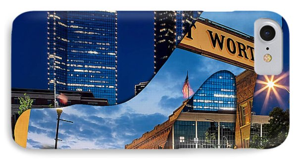 Fort Worth Texas IPhone Case by Marvin Blaine