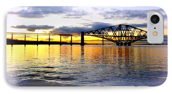 Forth Rail Bridge At Sunset Phone Case by The Creative Minds Art and Photography