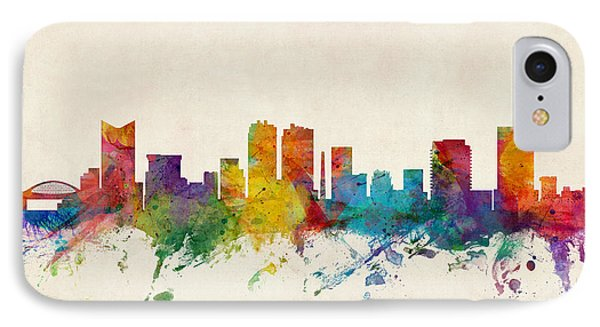 Fort Worth Texas Skyline IPhone Case by Michael Tompsett
