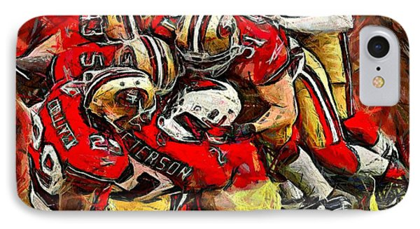 IPhone Case featuring the digital art Forty Niners by Carrie OBrien Sibley