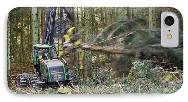 Forwarder Forestry Vehicle IPhone Case by Ashley Cooper