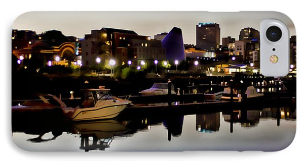 Foss Waterway At Night IPhone Case by Ron Roberts