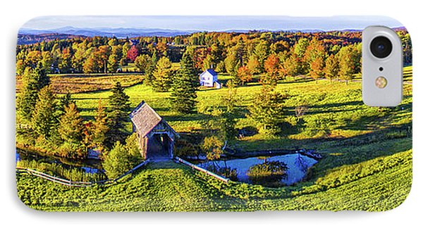 Foster Covered Bridge In Fall, Cabot IPhone Case