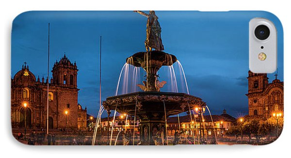 Fountain At La Catedral, Plaza De IPhone Case by Panoramic Images