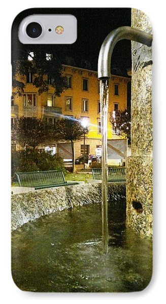 Fountain At Night Phone Case by Giuseppe Epifani