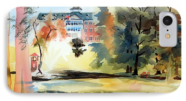 Fountain At The Baptist Home Phone Case by Kip DeVore