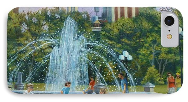 Fountain At Washington Square Park New York IPhone Case