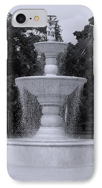 Fountain By The Pool IPhone Case by Christine Perry
