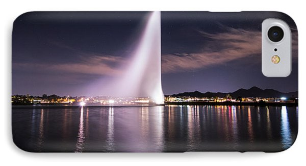 Fountain Hills At Night IPhone Case by Michael J Bauer