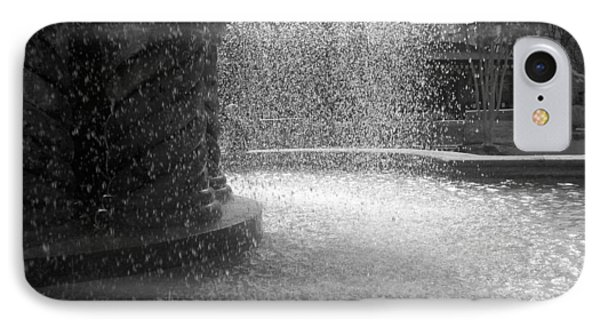 IPhone Case featuring the photograph Fountain In Black And White by Richard Stephen