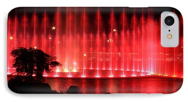 Fountain Of Red Phone Case by Geraldine DeBoer