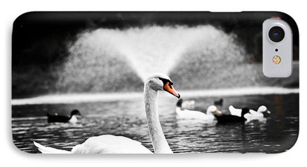 Fountain Swan Phone Case by Shane Holsclaw