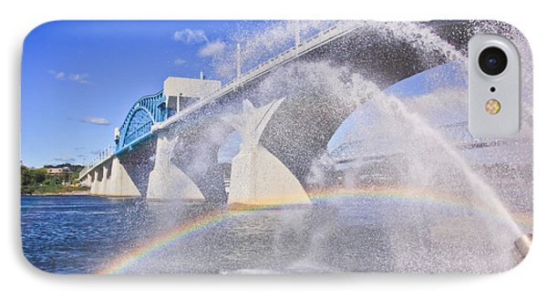 Fountains And The Market Street Bridge Phone Case by Tom and Pat Cory