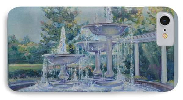 Fountains At Noon Phone Case by Elena Broach