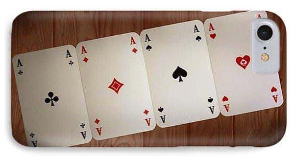 The Four Aces IPhone Case by Daniel Precht