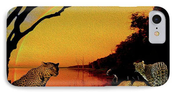 Four At Waterhole IPhone Case
