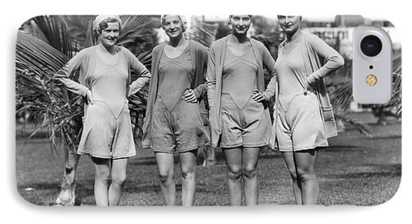 Four Bathing Suit Models IPhone Case by Underwood Archives