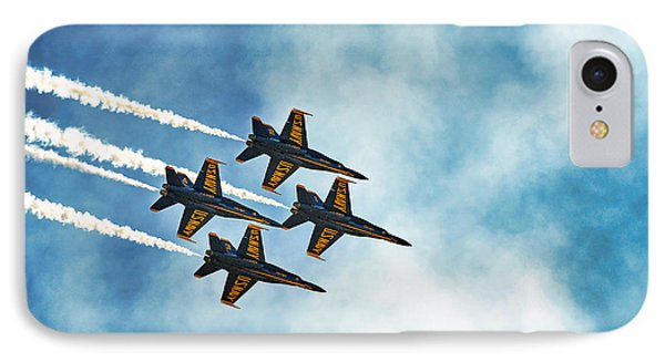 Four Blue Angels  IPhone Case by James David Phenicie
