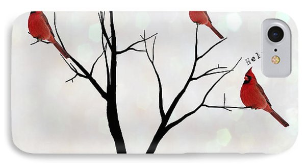 Four Calling Birds IPhone Case by Juli Scalzi