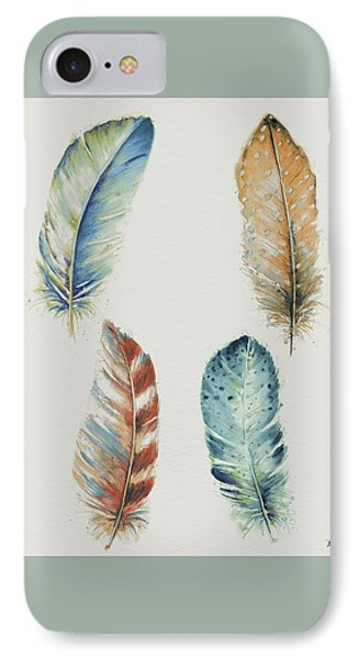 Four Colorful Feathers IPhone Case