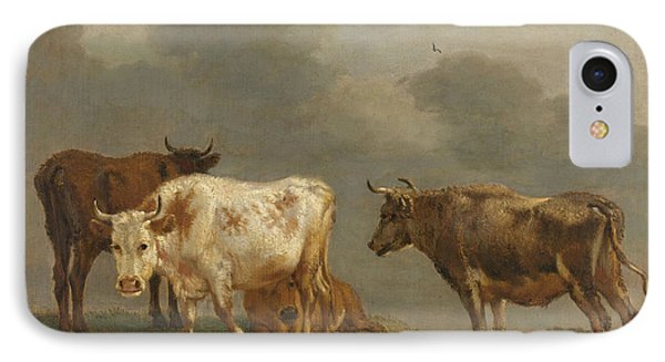 Four Cows In A Meadow IPhone Case