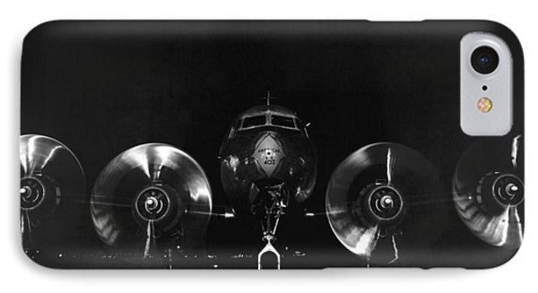 Four Engine Airplane IPhone Case by Underwood Archives