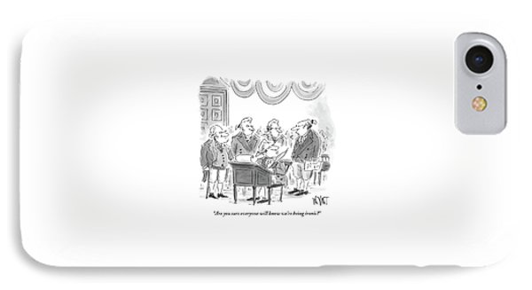 Four Founding Fathers Discuss The Writing IPhone Case