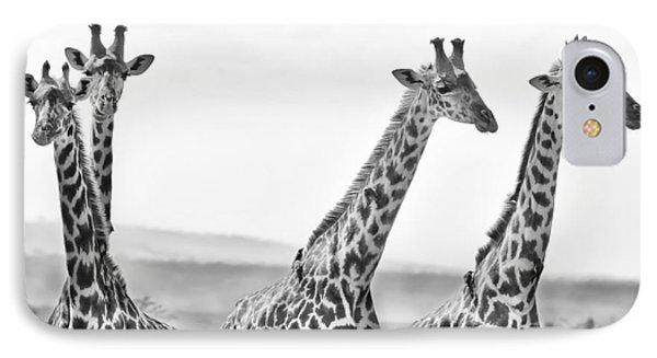 Four Giraffes IPhone 7 Case by Adam Romanowicz