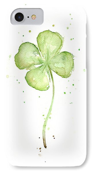 Four Leaf Clover Lucky Charm IPhone 7 Case by Olga Shvartsur