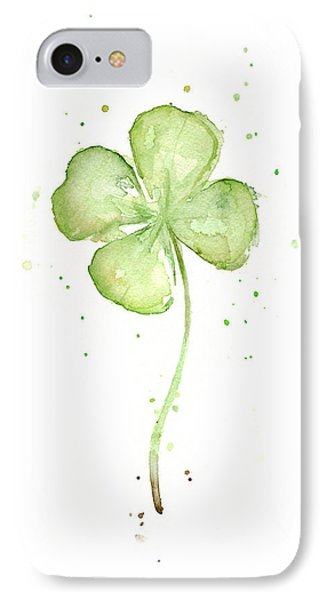 Four Leaf Clover Lucky Charm IPhone Case by Olga Shvartsur