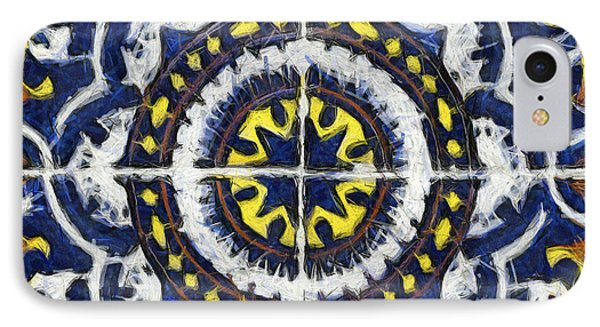 Four Painted Tiles-mexico IPhone Case by Michael Flood