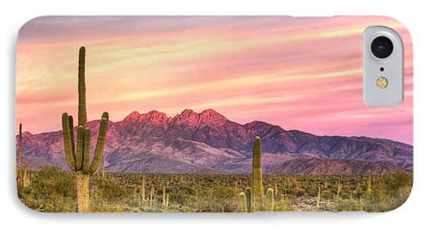 Four Peaks Sunset IPhone Case by Anthony Citro