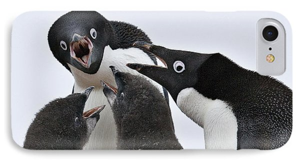 Four Penguins IPhone 7 Case by Carol Walker